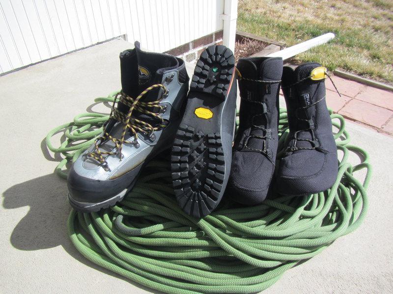 Rock Climbing Photo: Baruntse double-boot
