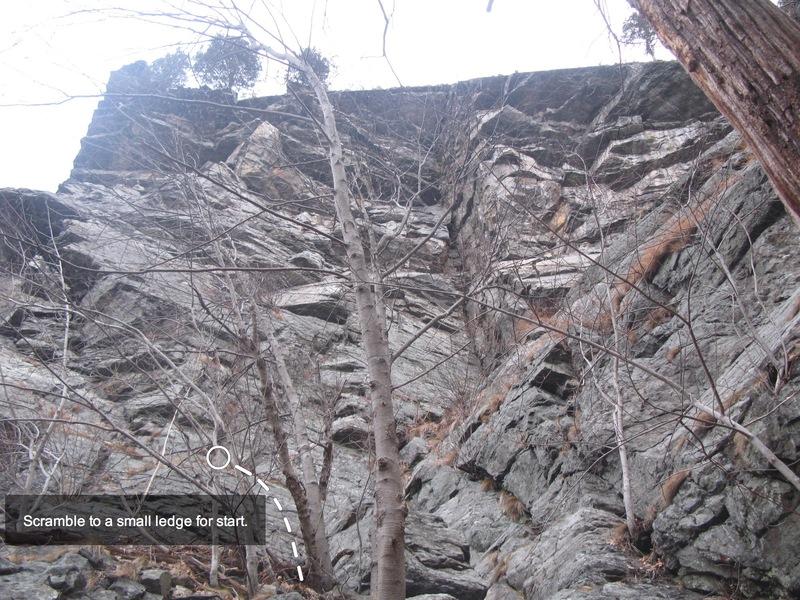 Rock Climbing Photo: Starting scramble ledge