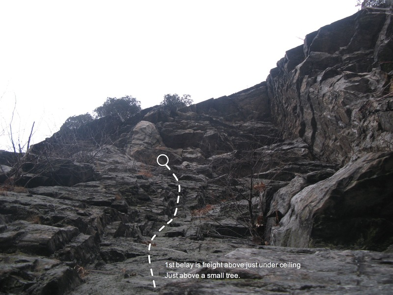 Route to 1st Belay station