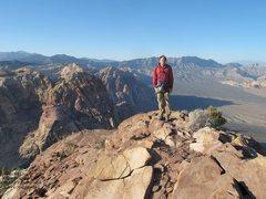 "Rock Climbing Photo: Aaron after ""Inti Watana Arete"""