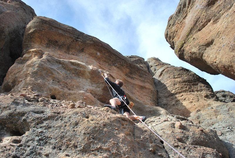 Rock Climbing Photo: Luke climbing Svengali.