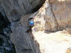 Rock Climbing Photo: Entering the final crux