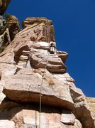 Rock Climbing Photo: Eric Peterson leads P1