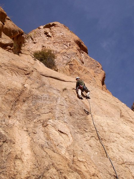 Rock Climbing Photo: The 2nd pitch of Fire Sermon used to attain P3