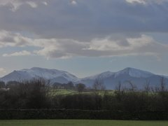 Rock Climbing Photo: Causey Pike and Grisdale Mts. March 2014