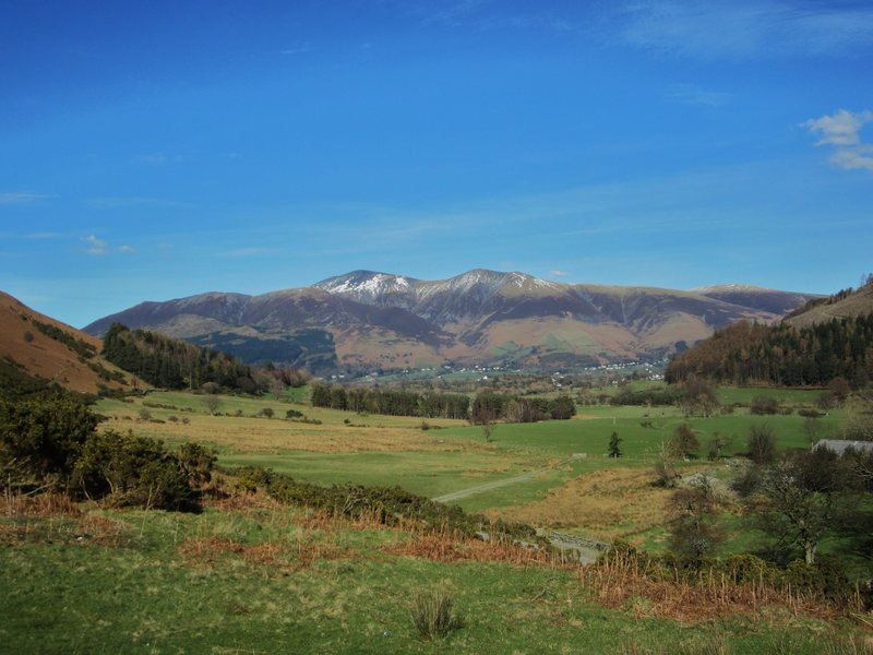 Skiddaw Mt from Newlands Valley . March 2014