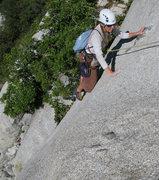 Rock Climbing Photo: Maura climbing