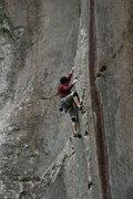 Rock Climbing Photo: Alan working his way through the Heucos