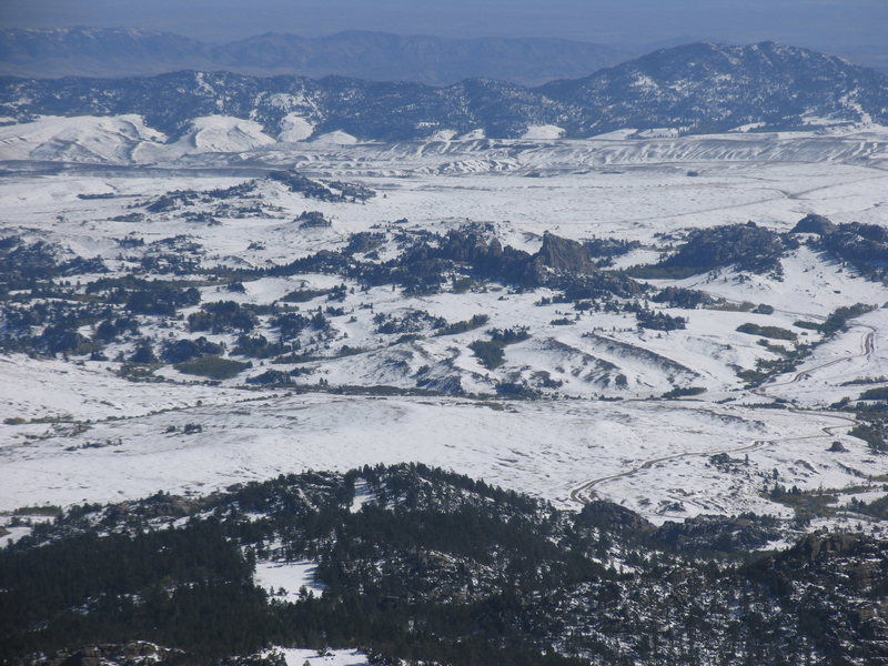 Bear Rock as seen from Squaw Mountain on snow covered day on September 24.