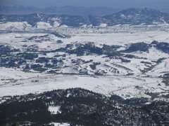 Rock Climbing Photo: Bear Rock as seen from Squaw Mountain on snow cove...