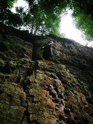 Rock Climbing Photo: Near the anchors