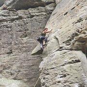 Rock Climbing Photo: Leading Kokopeli's Dream