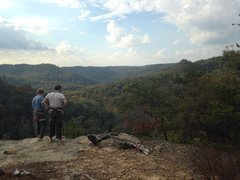 Rock Climbing Photo: Aaron and Cameron taking in the view of the Caver'...