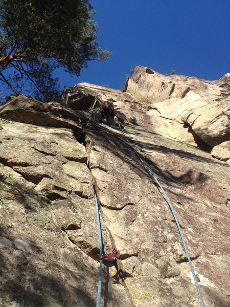 On rappel.  This route shouldn´t be bolted