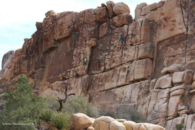 Climbers at the Thin Wall.
