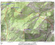 Rock Climbing Photo: Map for approach to Buffalo Peak