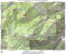 Rock Climbing Photo: Map for approach to Squaw Peak.