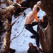 Rock Climbing Photo: Digitalis Prow, Taylors Falls MN, V5