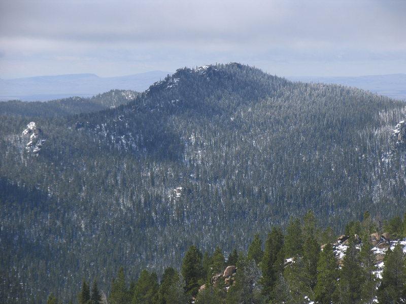 Rock Climbing Photo: Twin Peaks as seen from Squaw Peak.