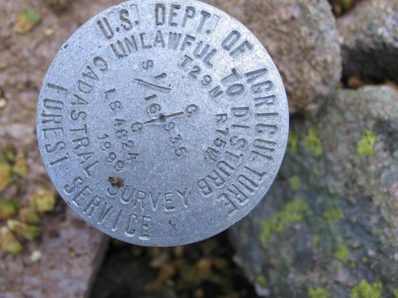 Summit BM on Warbonnet Peak.