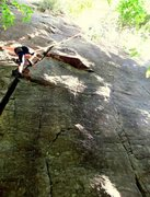 Rock Climbing Photo: Suzy Williams on North Country Club Crack