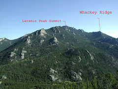 Rock Climbing Photo: Whackey Ridge as seen from the north on the Esterb...