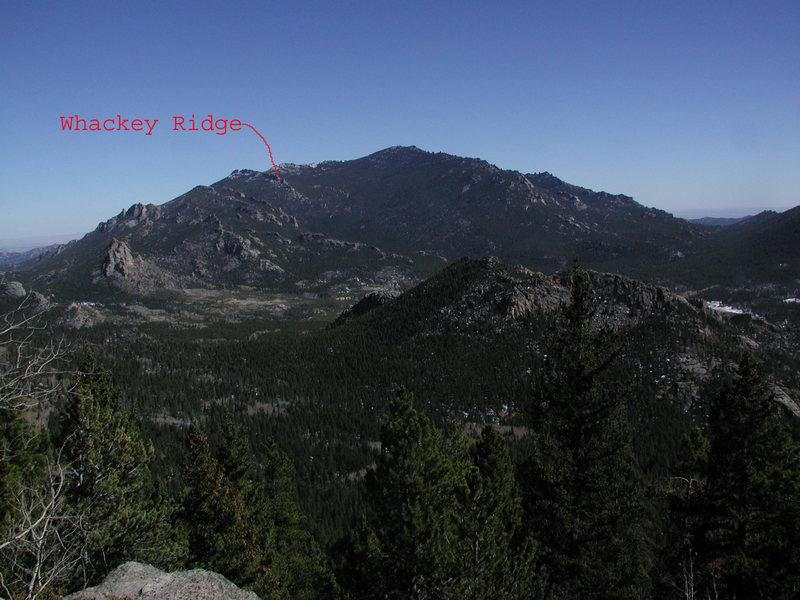 Whackey Ridge as seen from Eagle Pk.