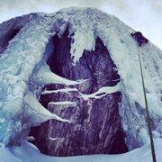 Rock Climbing Photo: Sarah Mac ice climbing for her first time.