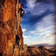 Rock Climbing Photo: Carly Richards top-roping off of Suzy Williams' le...