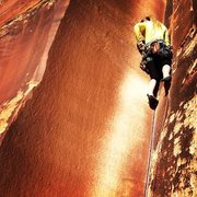 Rock Climbing Photo: Suzy Williams on lead.  This is a short pitch, fun...