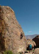 Rock Climbing Photo: tom on lead