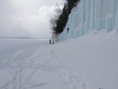 below zero temps, creates really hard ice conditions, oh, but you already know that
