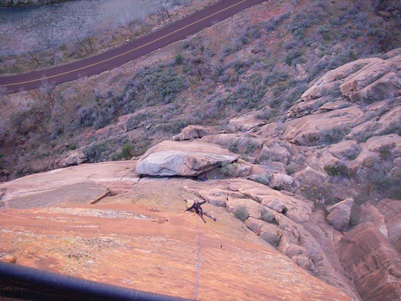 Rock Climbing Photo: Desert shield pitch 6