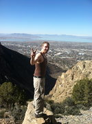 Rock Climbing Photo: just me sitting a 1000 feet above Provo. That was ...