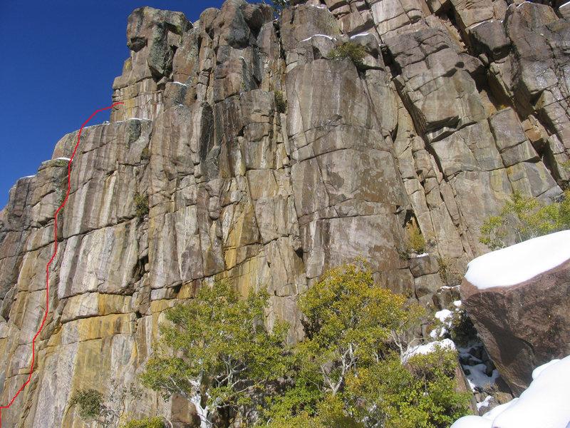 Rock Climbing Photo: Sample TRicks on the Roaring Wall.
