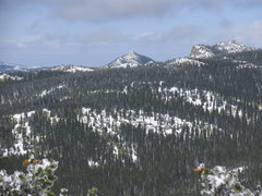 Rock Climbing Photo: Buck Peak as seen from Squaw Mountain.