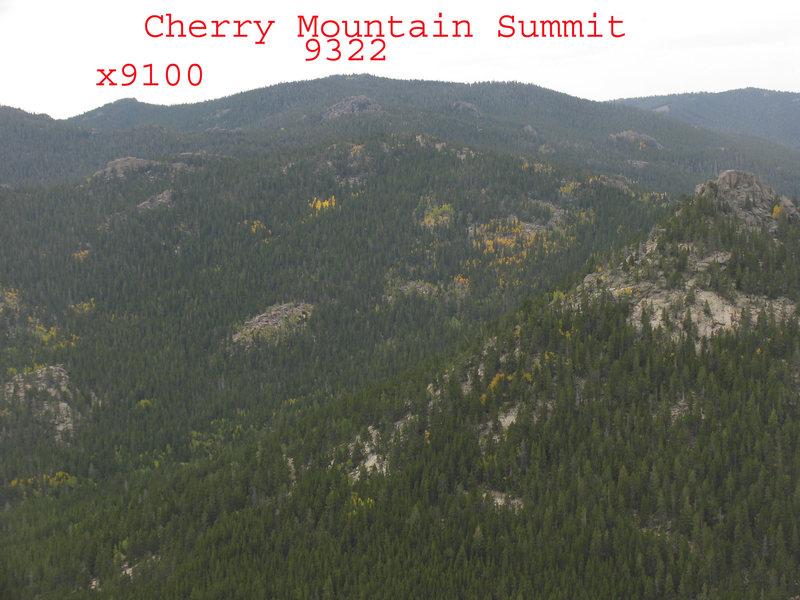 Rock Climbing Photo: Cherry Mountain as seen from Buck Peak