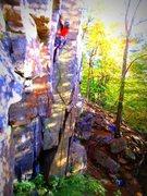 Rock Climbing Photo: Steven St.Pierre at Baker Cliffs.   This is a Sara...