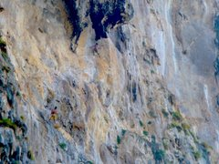 Rock Climbing Photo: The brothers on the second to last pitch of Humana...