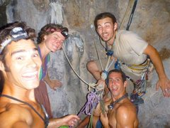 Rock Climbing Photo: The Gang onto of the last pitch after a full moon ...