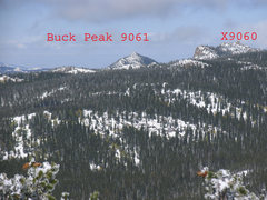 Rock Climbing Photo: Pt X9060 from Squaw Mountain