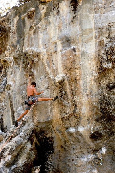 Rock Climbing Photo: Mike Holley opening up on Babes