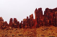 Rock Climbing Photo: Bridger Jack Mesa from our campsite.