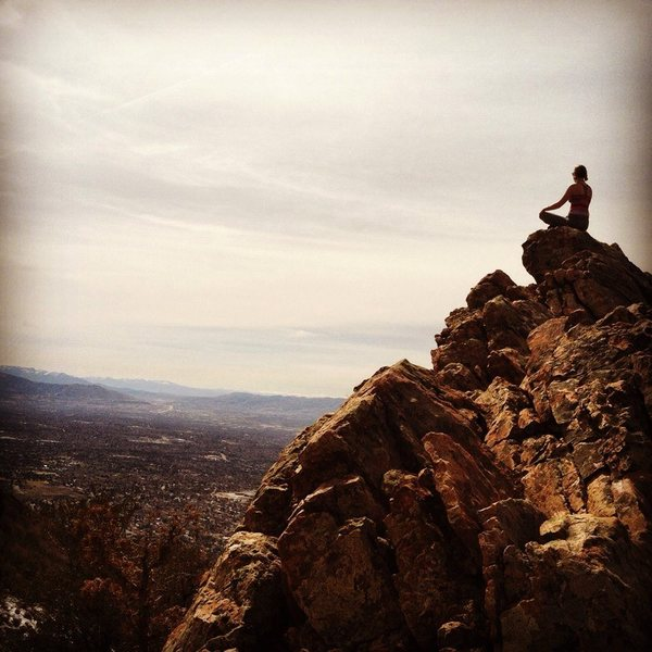 Rock Climbing Photo: Enjoying the view from Mt. Olympus.