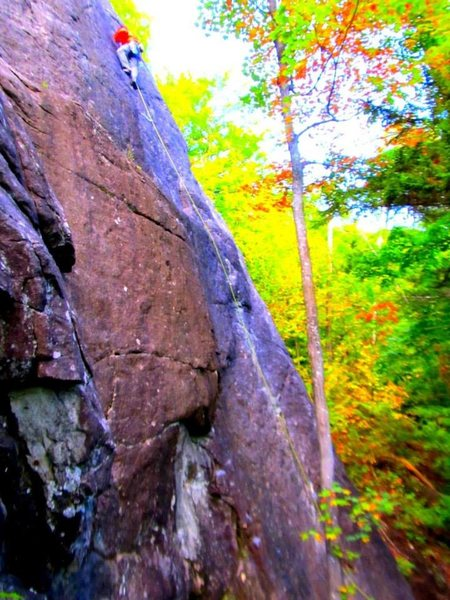 Matt Baer on lead.<br> <br> Fall foliage at it's finest: Rocktober!