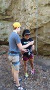 Rock Climbing Photo: teaching the knot