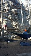 chillin at the belay station