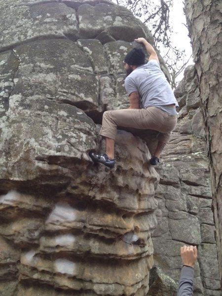 Rock Climbing Photo: midpoint on mario