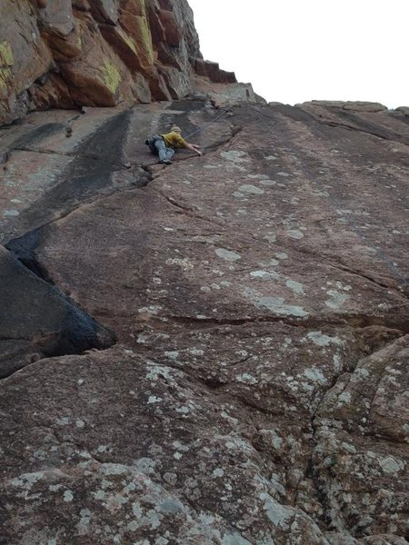 """Rock Climbing Photo: """"Crazy Alice"""" November 2013"""