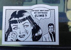 Rock Climbing Photo: What my girlfriend thinks about me.